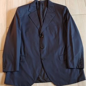 Brioni Navy 3 Button Jacket 44 R